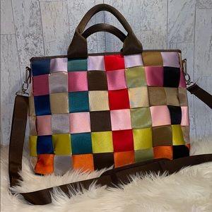 Handbags - Seat belt style crossbody laptop work bag